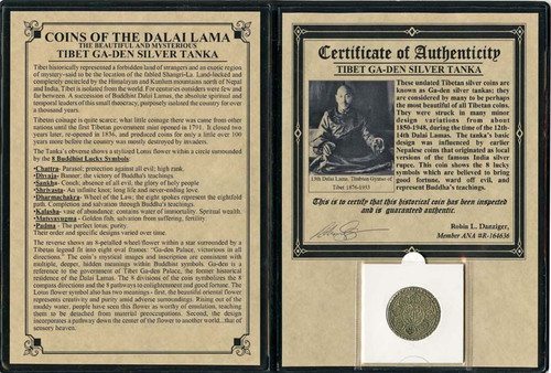 Genuine Tibet Silver Tanka Album : Authentic Artifact - Museum Company Photo
