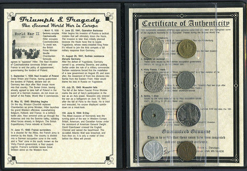 Genuine Triumph & Tragedy: The Second World War in Europe Album : Authentic Artifact - Museum Company Photo