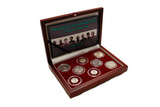Genuine Twilight of the Monarchies Box: A Collection of 8 Coins  : Authentic Artifact - Museum Company Photo
