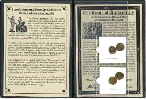 Genuine Twin City Goddesses: Roma and Constantinopolis Album : Authentic Artifact - Museum Company Photo