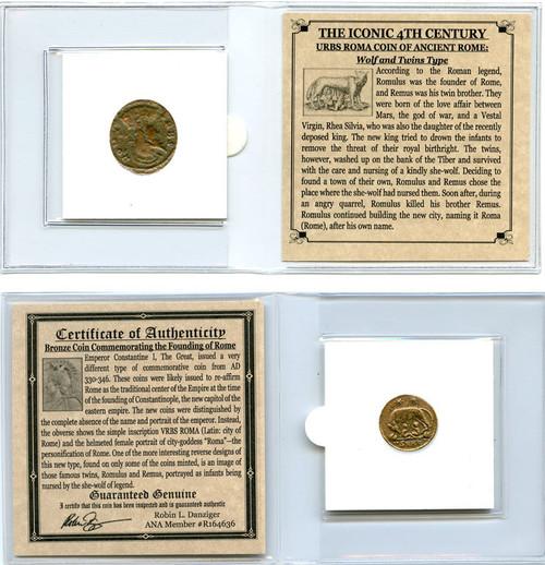 Genuine Urbs Roma Commemorative Coin Mini (C) : Authentic Artifact - Museum Company Photo