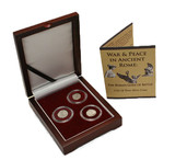 Genuine War & Peace in Ancient Rome: Roman Gods of Battle Box  : Authentic Artifact - Museum Company Photo