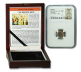Genuine Widow's Mite Judaea Bronze Prutah NGC Certified Slab Box (Premium Grade) : Authentic Artifact - Museum Company Photo
