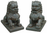 Large set of Foo Dogs - Guardian Lions : Pair of Indoor / Outdoor - Garden Statues