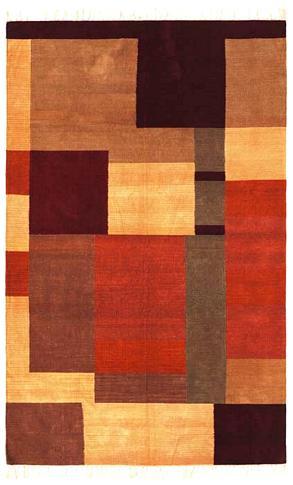 Complex - Copper / Multi Rug : Chenille Flat Weave Collection - Photo Museum Store Company