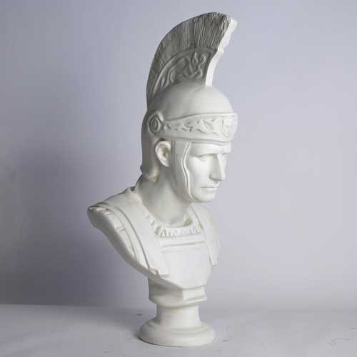 Roman Soldier with Helmet Bust - Museum Replica Collection Photo