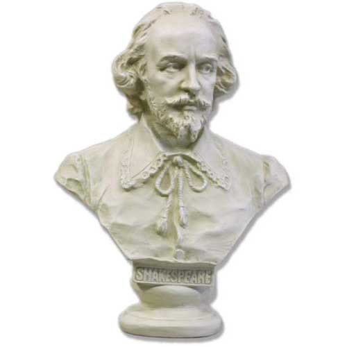 William Shakespeare Informal Bust - Museum Replicas Collection Photo