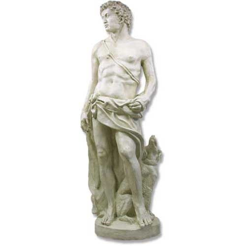 Apollo of Hunt With Dog Statue - Museum Replica Collection Photo