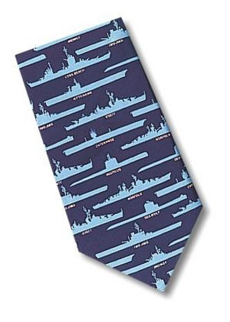 Museum Designs Navy Ships and Subs Necktie - Photo Museum Store Company