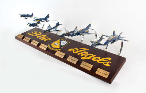 Blue Angels Collection 1/72 8 Plane Set  - US Navy Blue Angels - Museum Company Photo