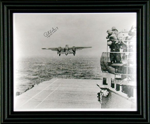 WWII - Lt. Dick Cole, Crew #1 of Doolittle's Raiders Autographed Photo Framed - Photo Museum Store Company