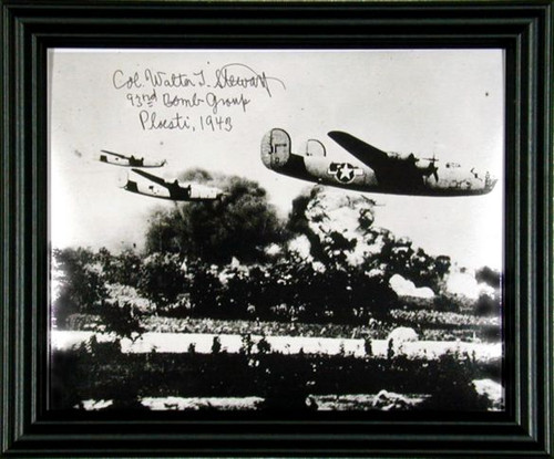 WWII - Col. Walter Stewart Autographed Photo Framed - Lead Bomber Operation Tidal Wave - Photo Museum Store Company