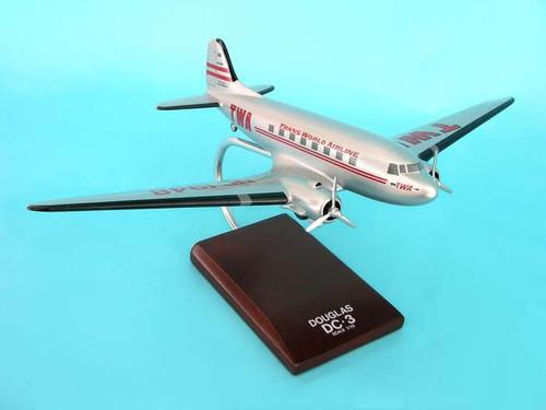 Twa DC-3 1/72  - TWA Transworld Airlines (USA) - Museum Company Photo