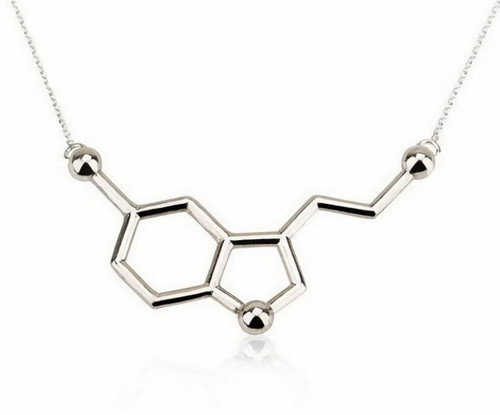 Museum Company Serotonin Molecule Necklace - Neuroscience Collection - Museum Store Company Photo