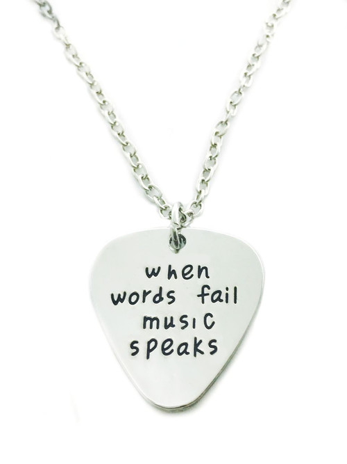 Museum Company When Worlds Fail Music Speaks - Stamped Pendant - Museum Store Company Photo