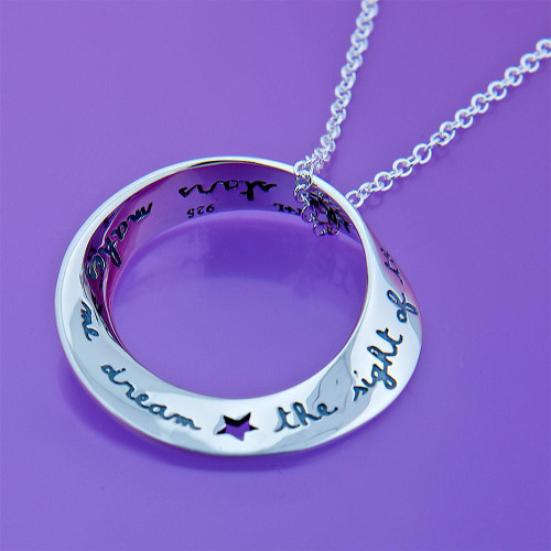 Van Gogh Stars Sterling Silver Necklace - Inspirational Jewelry Photo