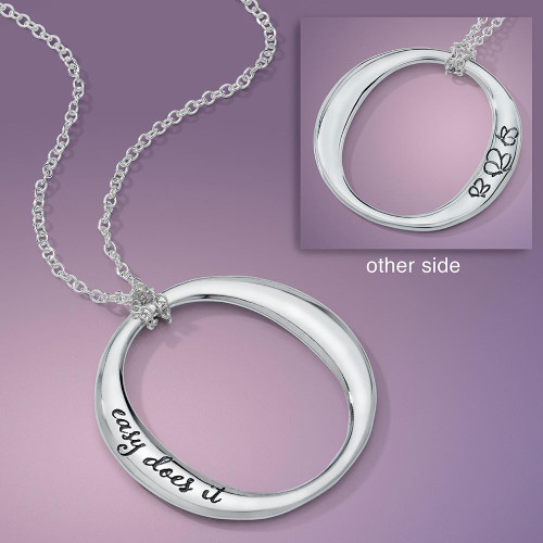 Easy Does It Sterling Silver Necklace - Inspirational Jewelry Photo