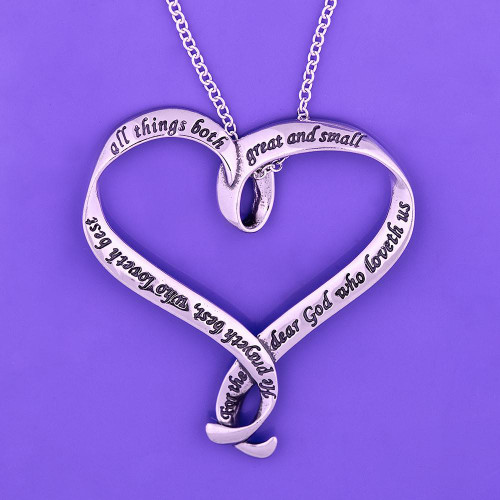 "Coleridge ""All Things"" Sterling Silver Necklace - Inspirational Jewelry Photo"