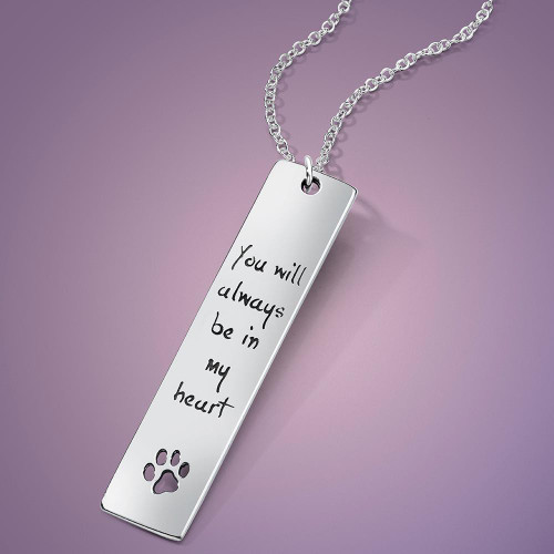 You Will Always Be In My Heart Sterling Silver Necklace - Inspirational Jewelry Photo