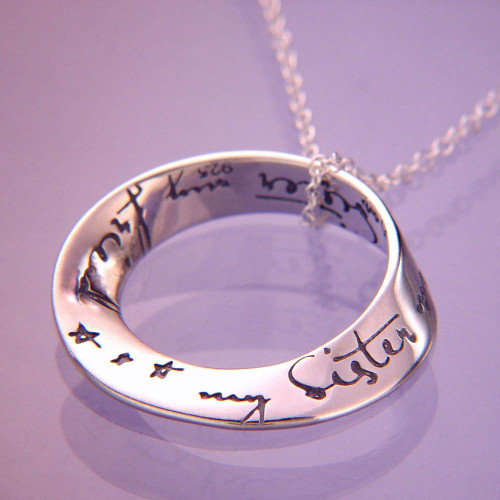 My Sister, My Friend Sterling Silver Necklace - Inspirational Jewelry Photo