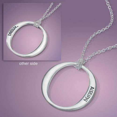 Dream In Gaelic Sterling Silver Necklace - Inspirational Jewelry Photo