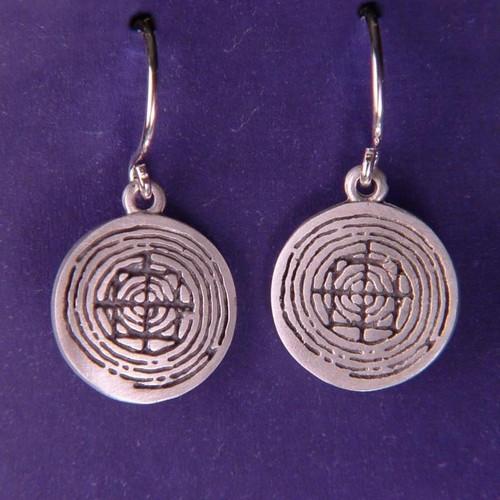 Mandala Dainty Sterling Silver Earrings - Inspirational Jewelry Photo