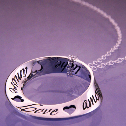 Love Sterling Silver Necklace - Inspirational Jewelry Photo