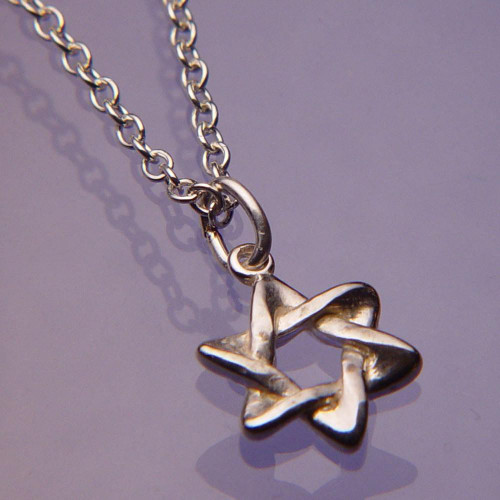 Star Of David Sterling Silver Necklace - Inspirational Jewelry Photo