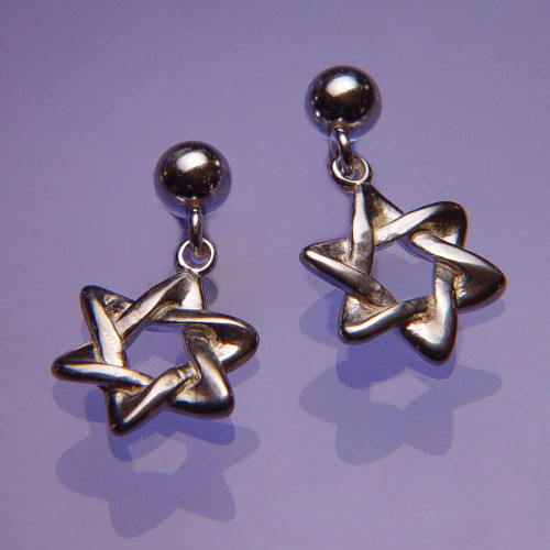 Star Of David Sterling Silver Earrings - Inspirational Jewelry Photo