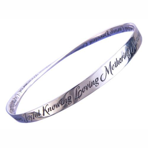 A-Z Of Mom Sterling Silver Bracelet - Inspirational Jewelry Photo