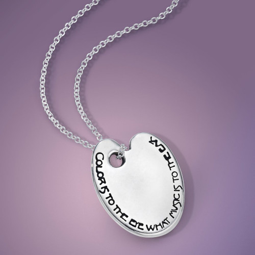 Color is to the Eye Sterling Silver Necklace - Inspirational Jewelry Photo