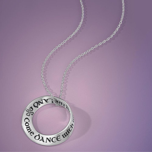 Come Dance With Me In Ireland Sterling Silver Necklace - Inspirational Jewelry Photo