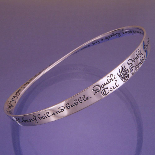 Double Double Toil And Trouble Sterling Silver Bracelet - Inspirational Jewelry Photo