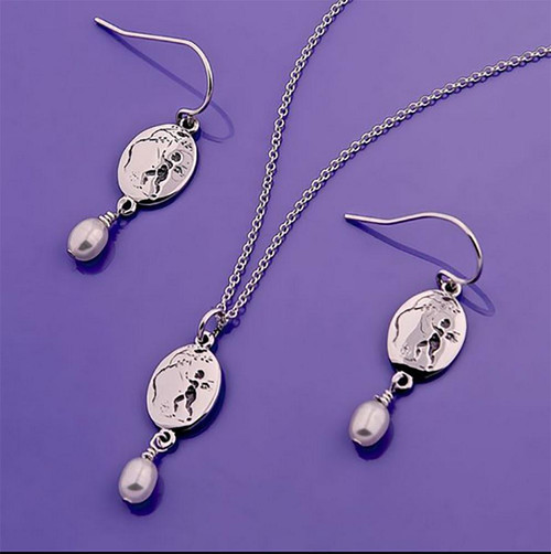 Cupid Sterling Silver Earrings - Inspirational Jewelry Photo