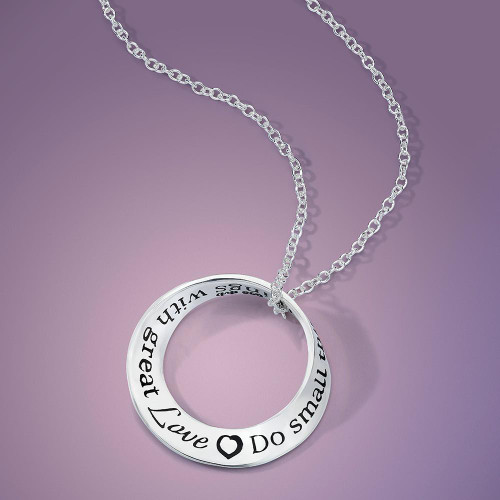 Do Small Things With Great Love Sterling Silver Necklace - Inspirational Jewelry Photo