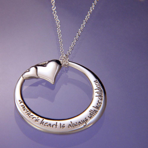 A Mother's Heart Sterling Silver Necklace - Inspirational Jewelry Photo