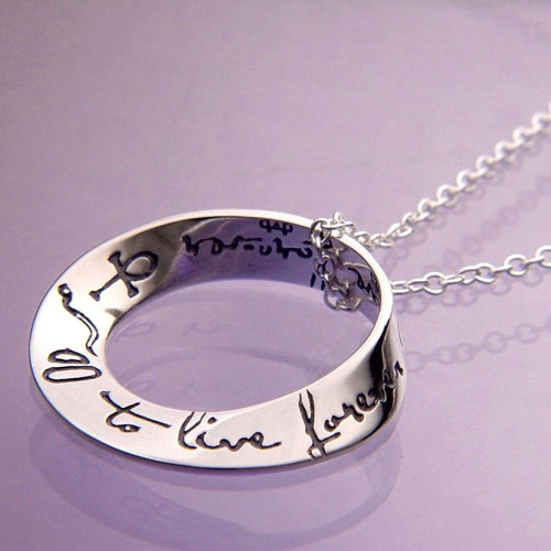 To Live Forever Sterling Silver Necklace - Inspirational Jewelry Photo