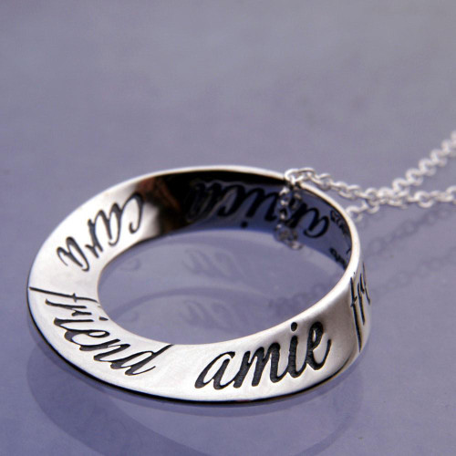 Friend Sterling Silver Necklace - Inspirational Jewelry Photo