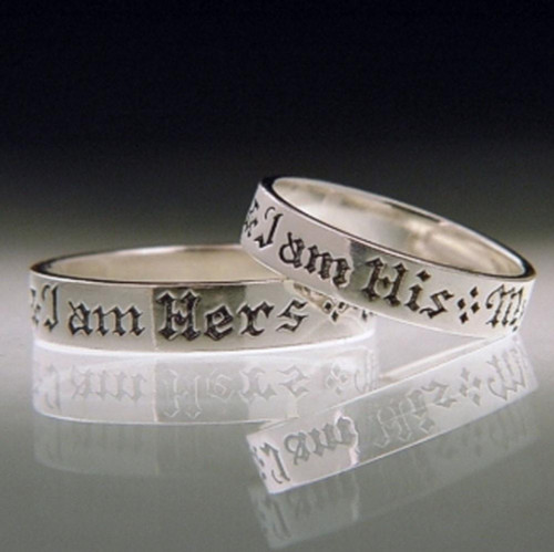 English: I Am His Sterling Silver Ring - Inspirational Jewelry Photo