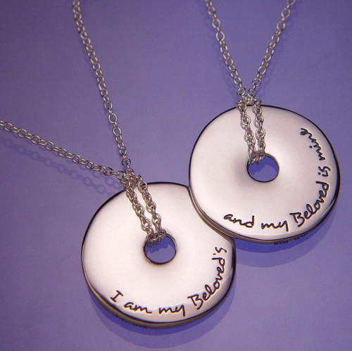 I Am My Beloved's Sterling Silver Necklace - Inspirational Jewelry Photo