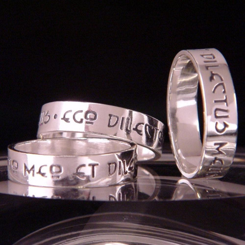 Latin: I Am My Beloved's Sterling Silver Ring - Inspirational Jewelry Photo