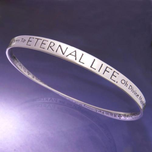 St. Francis' Prayer Eternal Life Sterling Silver Bracelet - Inspirational Jewelry Photo
