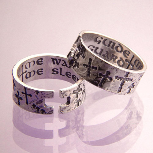 Guide Me Waking  Sterling Silver  Sterling Silver Ring - Inspirational Jewelry Photo