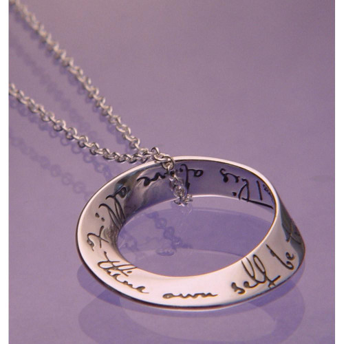 To Thine Own Self Be True Sterling Silver Necklace - Inspirational Jewelry Photo
