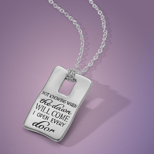 I Open Every Door Sterling Silver Necklace  - Inspirational Jewelry Photo