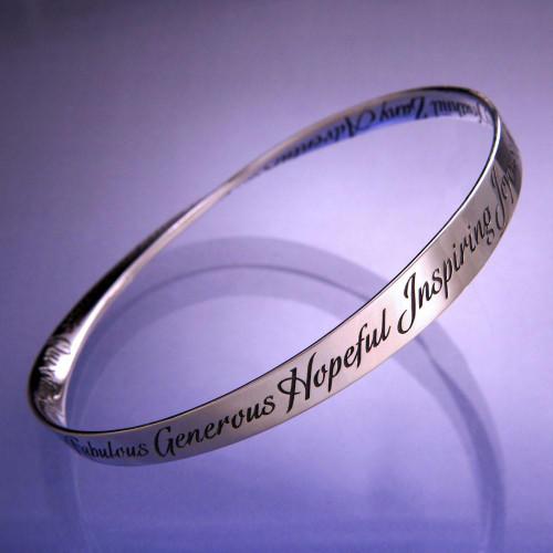 A-Z Of Inspiration Sterling Silver Bracelet - Inspirational Jewelry Photo