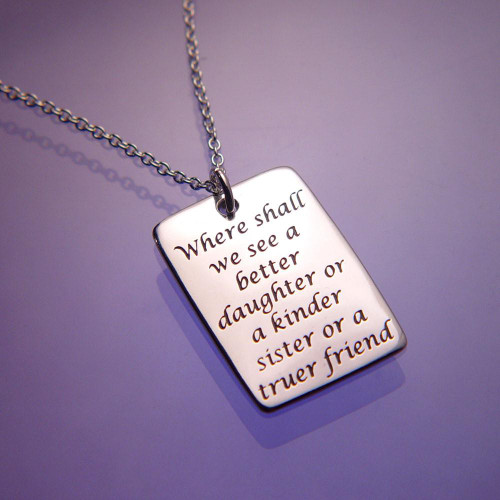 Daughter Sister Friend Sterling Silver Necklace - Inspirational Jewelry Photo