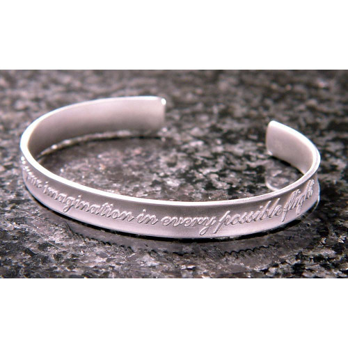 Indulge Your Imagination Sterling Silver Cuff - Inspirational Jewelry Photo