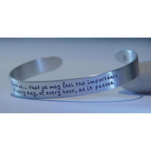 Jane Austen's Prayer Sterling Silver Cuff - Inspirational Jewelry Photo