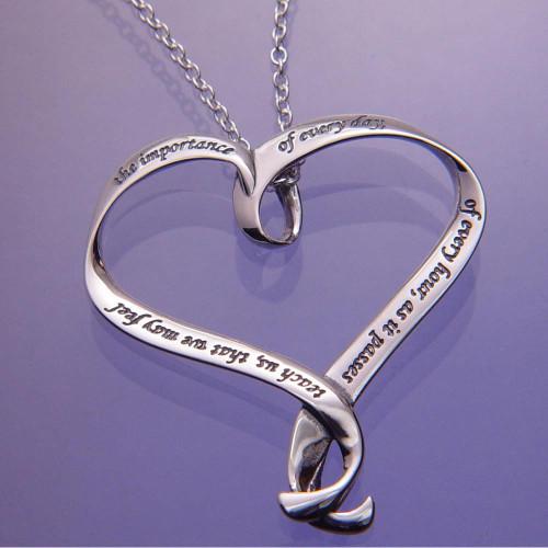 Jane Austen's Prayer Sterling Silver Necklace - Inspirational Jewelry Photo